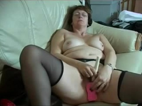 Dirty Grandma Rubs And Cums